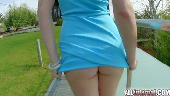 Анальное наказание для блондиночки с рабочим дуплом