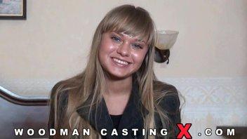 Молодая девчонка из России на кастинге Вудмана