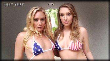 Бесстыжие блондинки Харли Джейд (Harley Jade) и Эй Джей Эпплгейт (Aj Applegate) вдвоем на славу развратничают