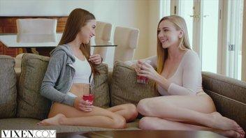 VIXEN - Райли Рид и Кендра Сандерлэнд занимаются горячим лесбийским сексом
