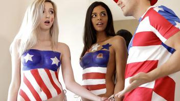 Как 2 девчонки и один парень отмечали День Конституции