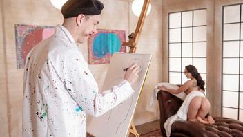 Похотливый художник страстно оттрахал свою молодую натурщицу Мэнди Мьюз