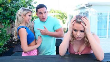 Двух блондиночек разводит на трахач